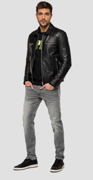 Biker jacket in soft quilted leather - Replay M8059_000_83706_010_1