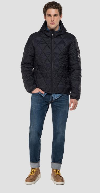 Recycled Nylon jacket with hood - Replay M8081_000_83798_098_1