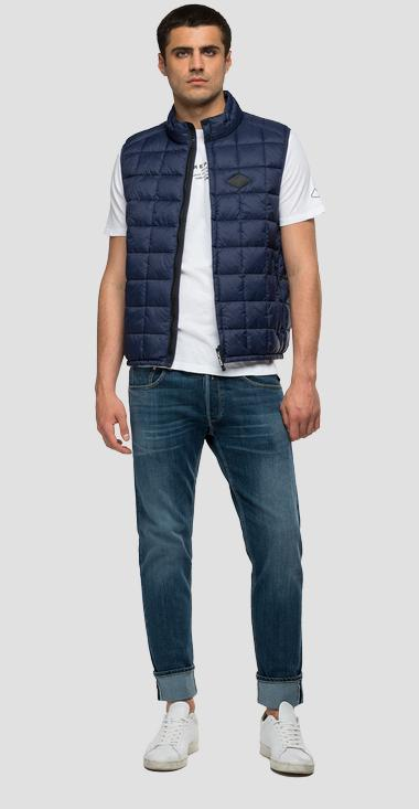 Quilted turtleneck waistcoat in recycled nylon - Replay M8083A_000_83966R_086_1
