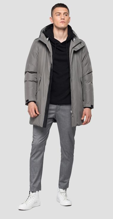 Long jacket with hood - Replay M8107_000_83856_297_1