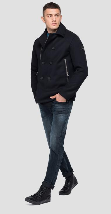 Double-breasted coat with pockets - Replay M8109_000_83828_498_1