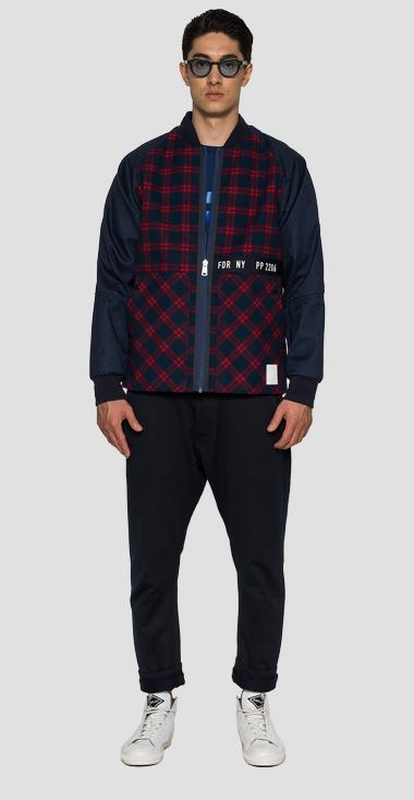 SPORTLAB jacket in checked fabric - Replay M8122_000_S83930_010_1