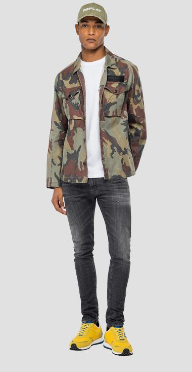 Camouflage cotton twill jacket - Replay M8138A_000_73354_010_1