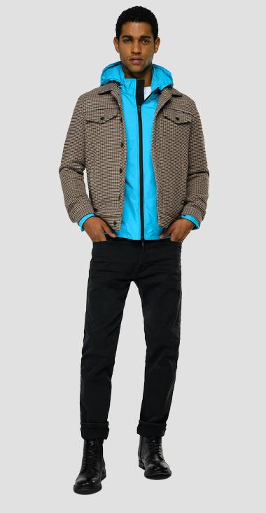Houndstooth jacket with pockets - Replay M8191_000_52431_010_1