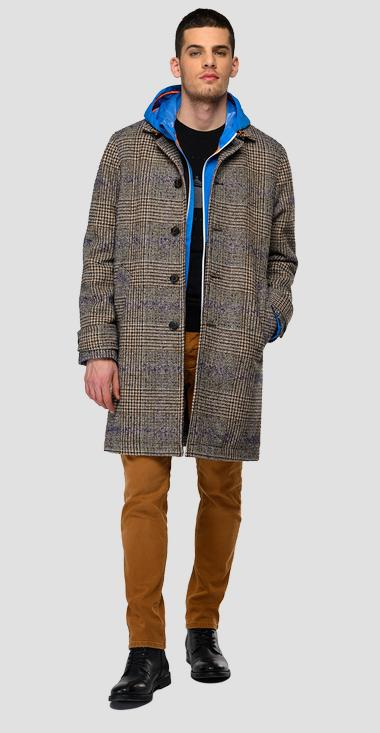 Houndstooth wool coat - Replay M8193_000_52466_010_1