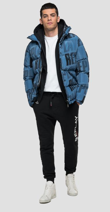 Padded jacket with REPLAY multi logo - Replay M8194_000_73450_787_1