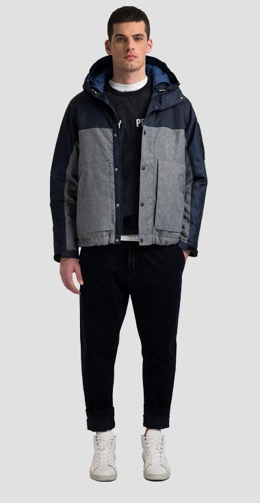 REPLAY SPORTLAB two-tone mid weight padded jacket in cotton and nylon - Replay M8208A_000_S10293_010_1
