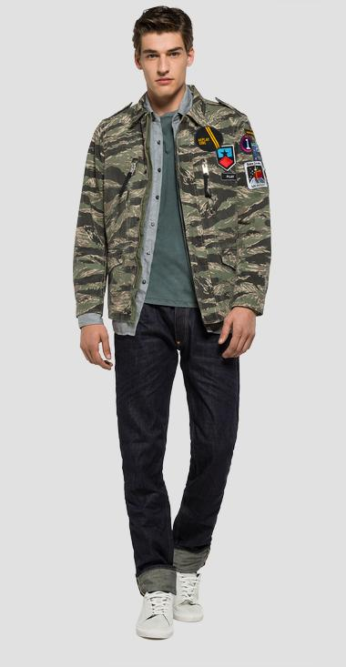 Camouflage cotton jacket - Replay M8820_000_71208_010_1