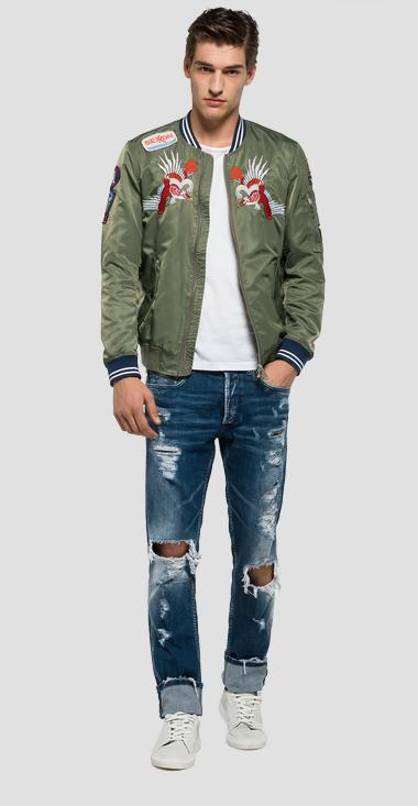 Nylon jacket with patches - Replay M8826R_000_82504_850_1