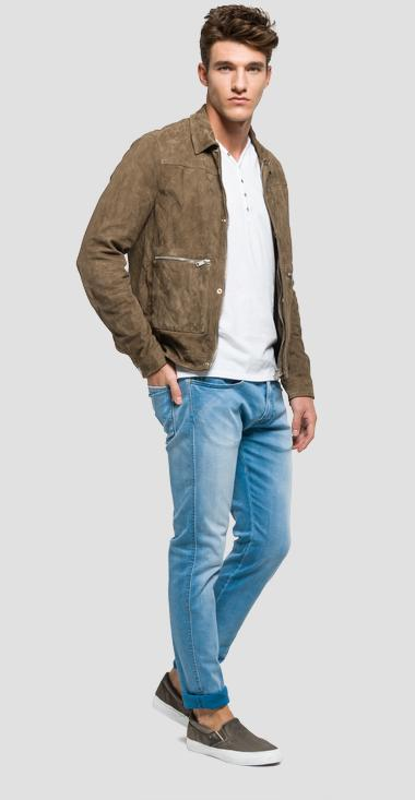 Crinkled leather jacket - Replay M8840_000_82782_030_1