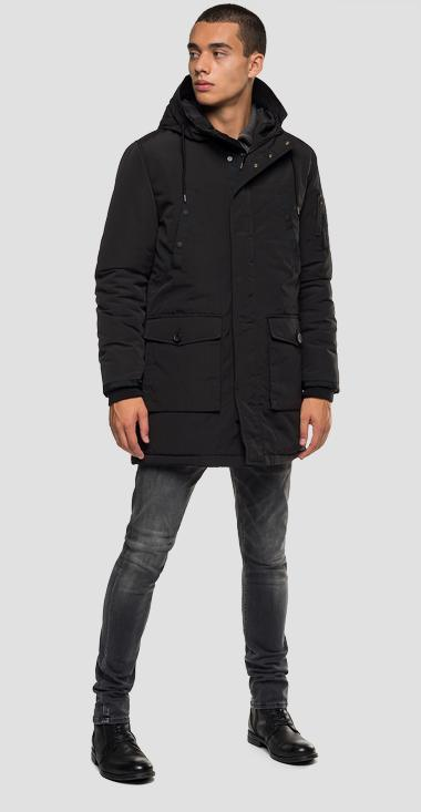 Multi-pocket jacket with hood - Replay M8931A_000_83422_098_1