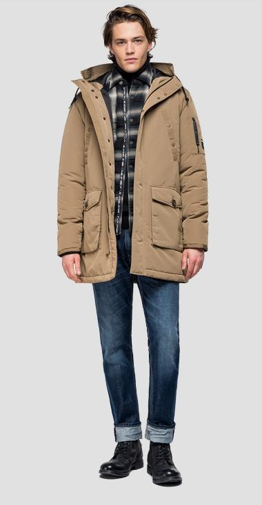 Multi-pocket jacket with hood - Replay M8931A_000_83422_557_1