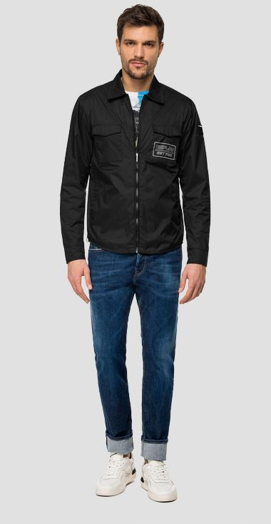 Nylon jacket with Replay zipper - Replay M8968C_000_83578_098_1
