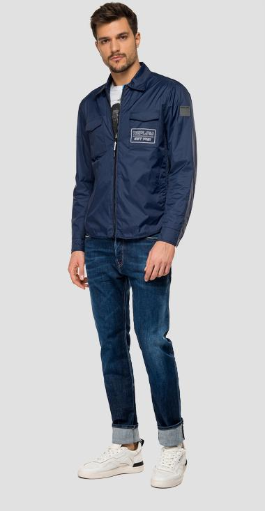 Nylon jacket with Replay zipper - Replay M8968C_000_83578_880_1