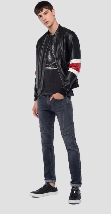 Biker leather jacket - Replay M8985_000_83254_010_1