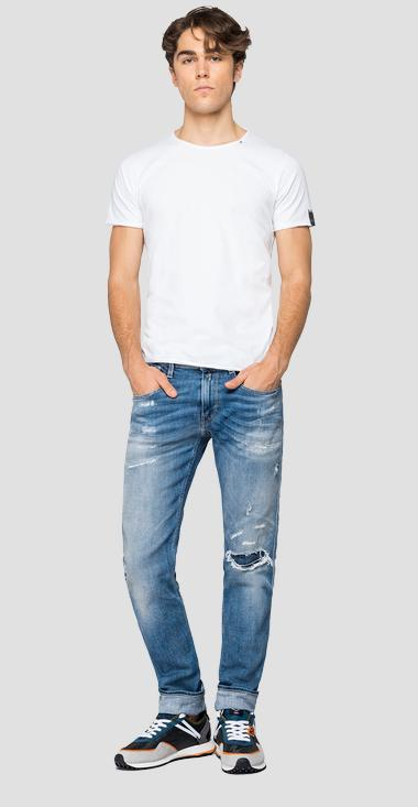 Jeans slim fit Anbass aged 20 years Sustainable Cycle - Replay M914Y_000_141-709_010_1
