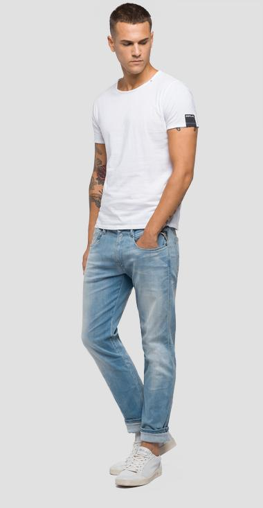 Jeans slim fit Hyperflex Laserblast Anbass - Replay M914Y_000_661-L05_011_1
