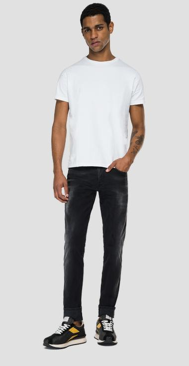 Slim fit Hyperflex Re-Used White Shades Anbass jeans - Replay M914Y_000_661-WB0_098_1