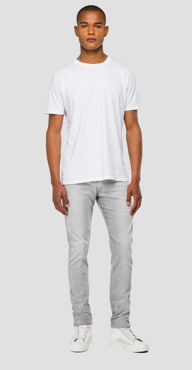 Slim fit Hyperflex Re-Used White Shades Anbass jeans - Replay M914Y_000_661-WB2_095_1