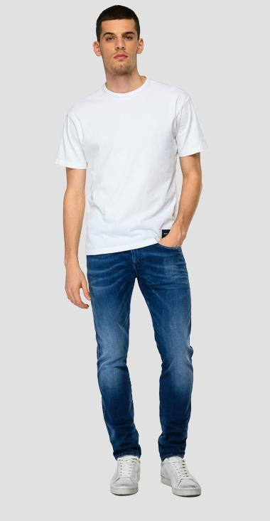 Jeans slim fit Hyperflex Re-Used White Shades Anbass - Replay M914Y_000_661-WI4_009_1