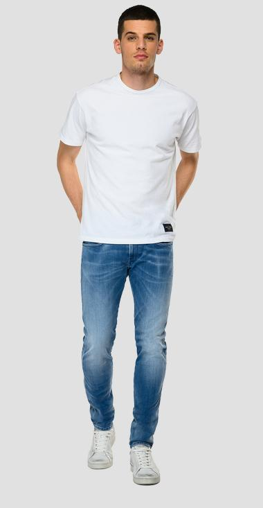 Slim fit Hyperflex Re-Used White Shades Anbass jeans - Replay M914Y_000_661-WI6_010_1
