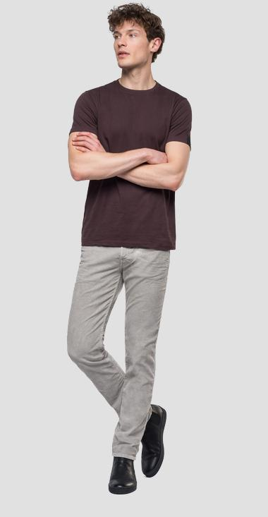 Slim fit Anbass trousers in velvet - Replay M914_000_8082990_110_1