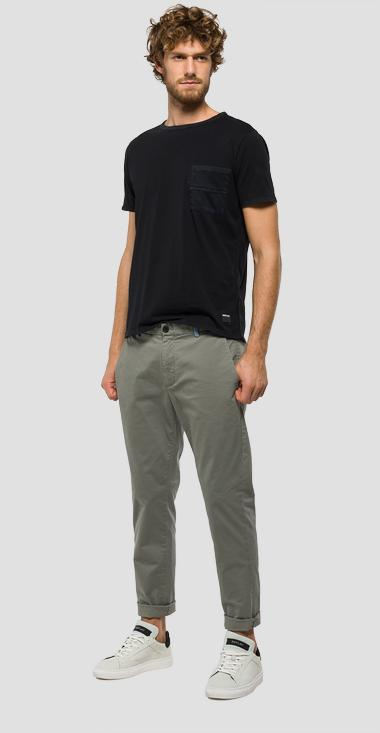 Tapered-fit cotton trousers - Replay M9551T_000_80623_705_1