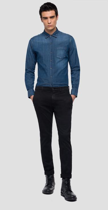 Slim fit Zeumar Hyperchino Color jeans - Replay M9627L_000_8166197_040_1