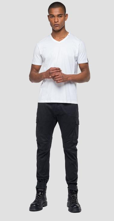 Cargo trousers with elasticated hem - Replay M9632_000_80629_998_1