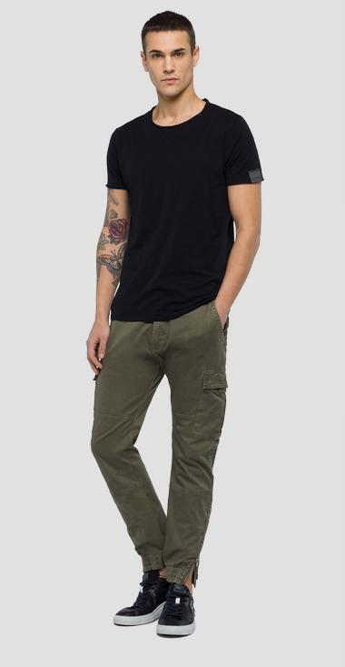 Cotton stretch slim fit cargo trousers - Replay M9632_000_80799G_574_1