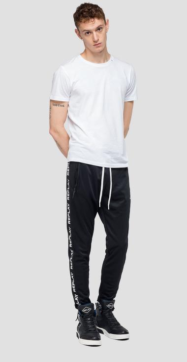 Joggers with writings - Replay M9642F_000_22610_098_1