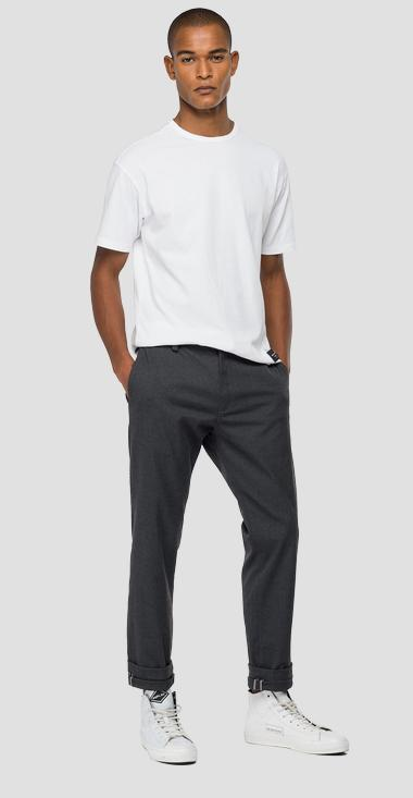 Replay Tailored stretch canvas twill chino trousers - Replay M9676S_000_8091507_020_1