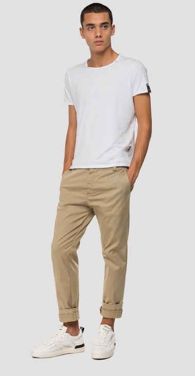 Tailored stretch Chino trousers - Replay M9676_000_8087907_010_1