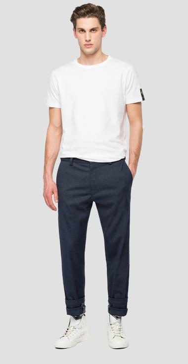 Tailoring twill chino trousers - Replay M9676_000_8091507_030_1