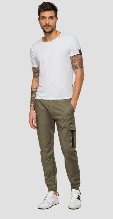Twill comfort fit cargo trousers - Replay M9683_000_80865G_677_1