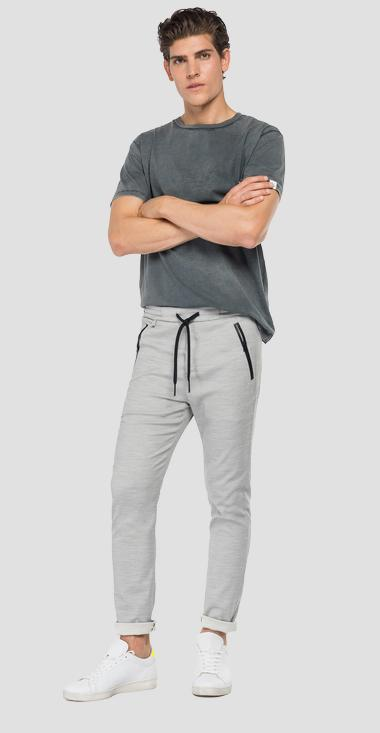 Viscose blend jogger pants with pockets - Replay M9685_000_50595_011_1
