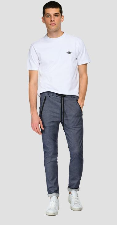 Viscose blend jogger pants with pockets Smart - Replay M9685_000_50595_021_1