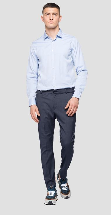 Trousers in viscose twill Smart - Replay M9686_000_50583_010_1