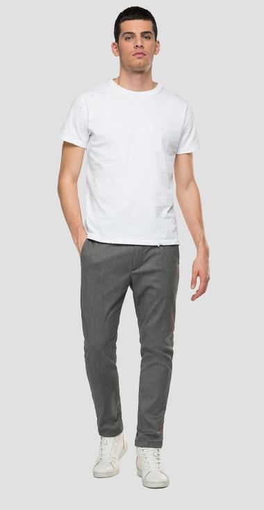 Slim fit trousers in stretch viscose Smart Business - Replay M9686_000_50605_010_1