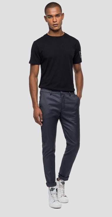 Mélange trousers with pockets - Replay M9687_000_50587_030_1