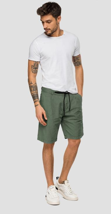 Replay bermuda shorts with drawstring - Replay M9696_000_83670G_677_1