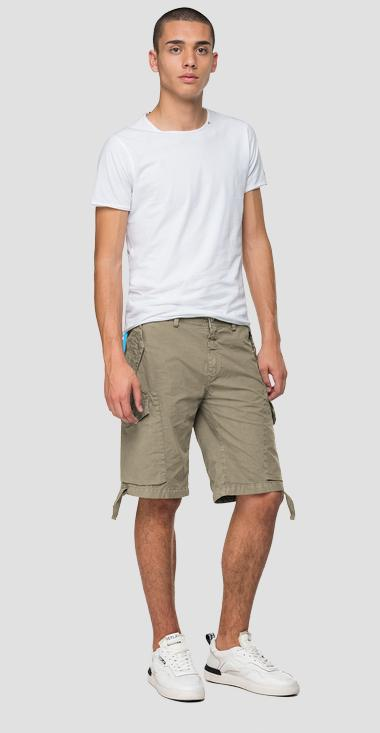 Bermuda shorts with straps and lace - Replay M9698_000_8366932_723_1