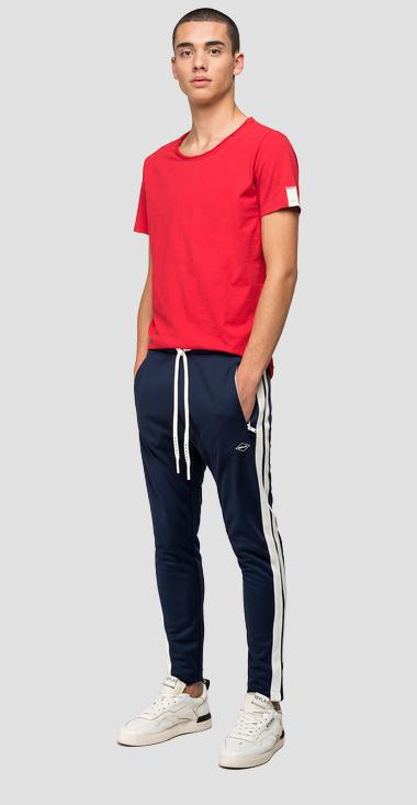 Jogger with tech fleece bands - Replay M9705_000_22610_880_1