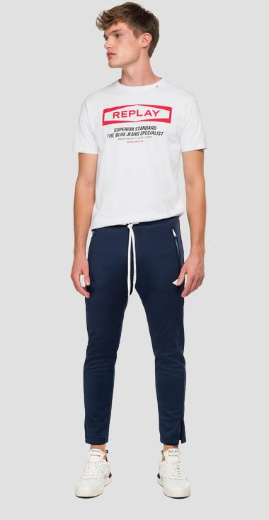 Jogger with REPLAY striped ribbon - Replay M9706B_000_22610_880_1