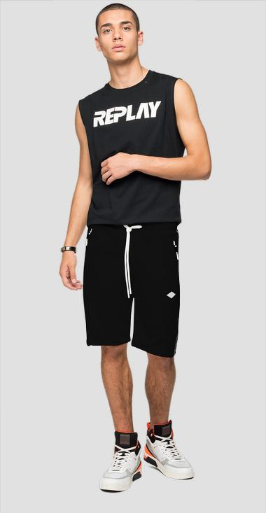 REPLAY bermuda shorts in tech fleece - Replay M9708_000_22610_098_1