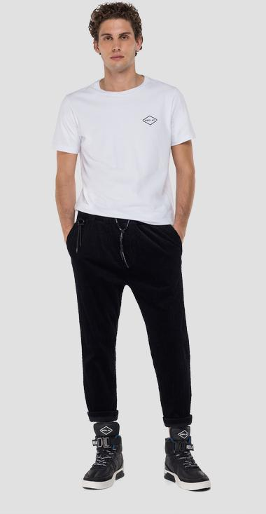 Velvet trousers with drawstring - Replay M9716T_000_80895_498_1