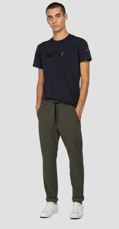Evoflex jogger trousers in jersey - Replay M9742_000_20641_935_1
