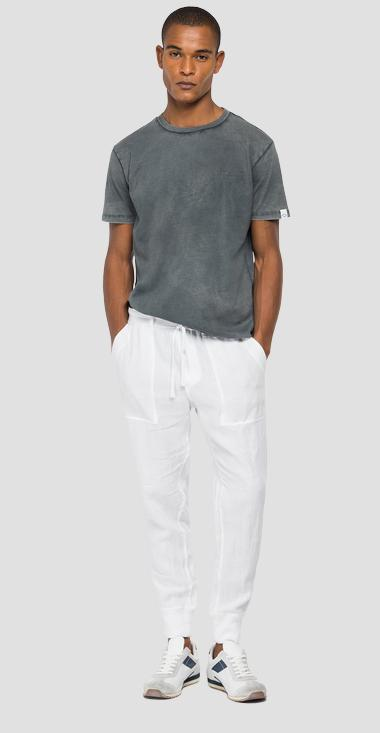 Jogger pants in linen with pockets - Replay M9749_000_84072G_001_1