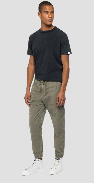 Cotton trousers with drawstring - Replay M9750_000_84073G_439_1