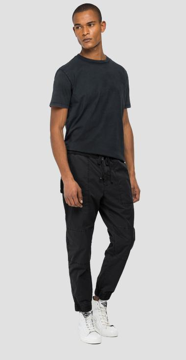 Cotton trousers with drawstring - Replay M9750_000_84073G_998_1